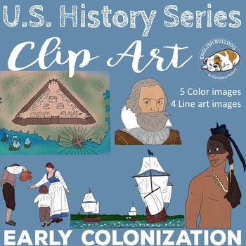 Early Colonization Clip Art Set--Jamestown