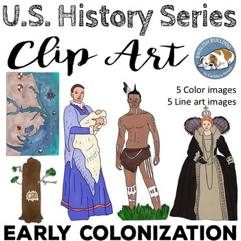 Early Colonization Clip Art Set--Lost Colony 2