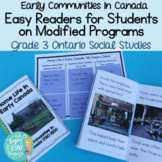Early Communities in Canada 1780-1850- Easy Readers & Acti