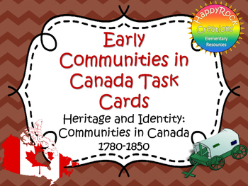 Early Settlers in Canada Task Cards