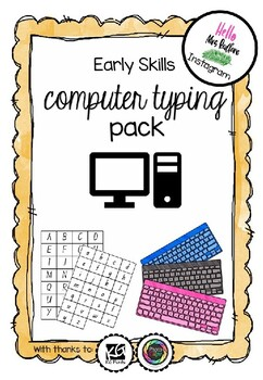Early Computer Typing Skills Pack