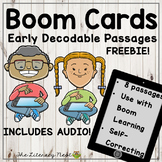 Early Decodable Passages for Orton-Gillingham BOOM CARDS V