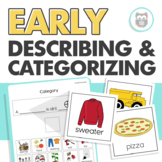Early Describing and Categorizing Packet for Speech Therapy