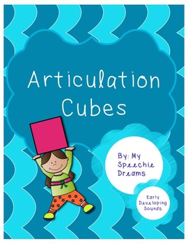 Early Developing Sounds Articulation Dice Cubes