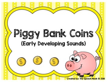 Early Developing Sounds: Piggy Bank Coins