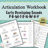 No Prep Articulation Workbook | Early Sounds | Speech Therapy