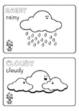 Roboto Kids Weather Flashcards