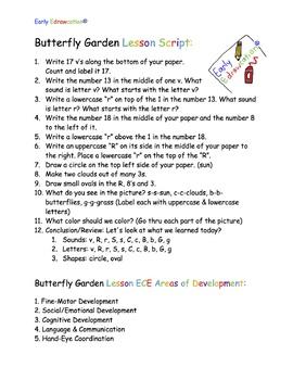 Early Edrawcation Butterfly Garden Lesson Script