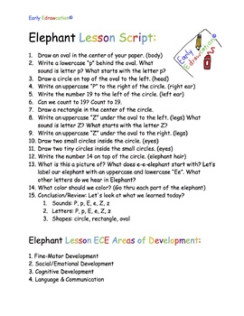 Early Edrawcation Elephant Lesson Script