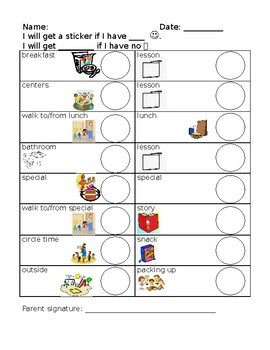 Early Elementary Behavior Chart