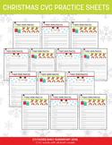 Early Elementary CVC Words - Christmas Theme