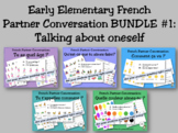 Early Elementary French Partner Conversation BUNDLE #1 (ta