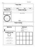 Early Elementary Math Morning Work