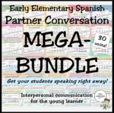 Early Elementary Spanish Partner Conversations MEGA-BUNDLE