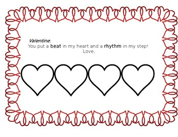 Early Elementary Valentine Rhythm Cards