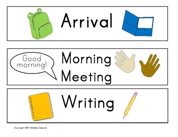 Early Elementary Visual Schedule