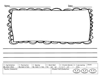 Early Elementary/ Kindergarten Writing Paper