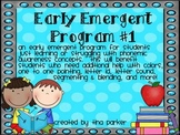 Early Emergent Beginning Phonics Program #1