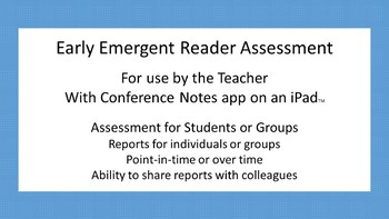 Early Emergent Reader Assessment