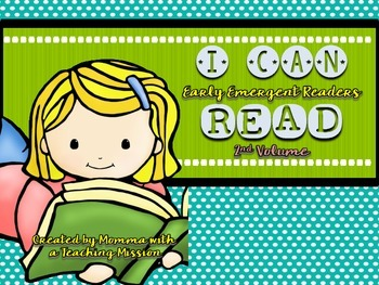 Early Emergent Readers I can Read Vol 2