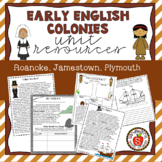 Early English Colonies Bundle - Roanoke, Jamestown, Plymouth