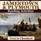 Jamestown and Plymouth Reading Activities