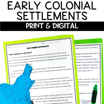 Early Colonial Settlements Nonfiction Packet