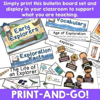 Early European Explorers:  Bulletin Board Set