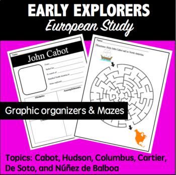Early European Explorers- Cabot, Hudson, Columbus, Cartier, De Soto, Balboa