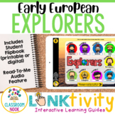 Link & Think Digital Guide: European Explorers {Google Classroom Compatible}