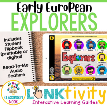 Early European Explorers {Digital Learning Guide and Flipbook}