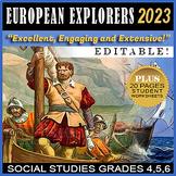 Early European Explorers Distance Learning Editable PowerP