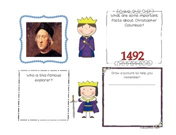 Interactive Notebook Activities & Colorful Charts for Early European Explorers!