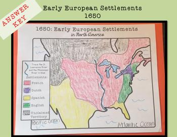 Early European Settlements in North America Brochure