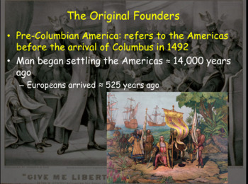 Early Settlers & the American Revolution PowerPoint Presentation (PART 1 of 2)