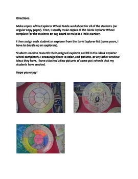 Early Explorer Wheel- Great for fifth grade!