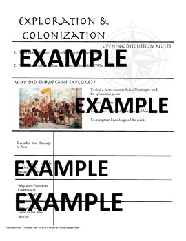 Early Exploration POWERPOINT AND TWO CHOICES OF ORGANIZERS