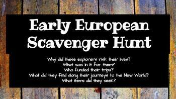 Early Exploration Scavenger Hunt