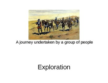 Early Exploration vocabulary words