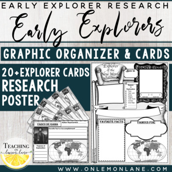 Early Explorer / Exploration Research Cards (Interactive Notebook) **FREEBIE