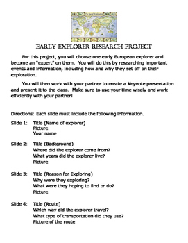 Early Explorer Research Project