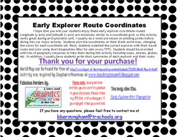 Early Explorer Route Coordinates
