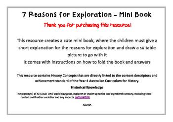 Early Explorers Mini Book