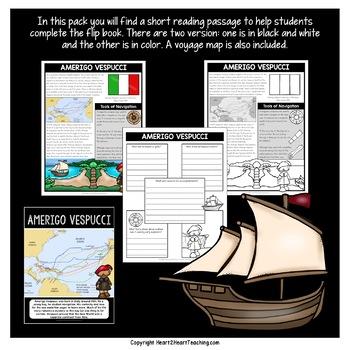 Early Explorers: Amerigo Vespucci Flip Book