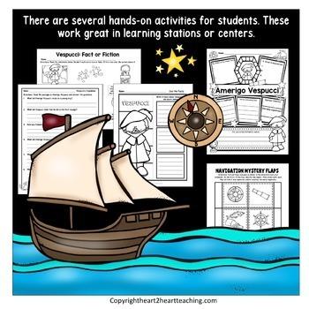 Early Explorers: Amerigo Vespucci Complete Unit with Articles & Activities