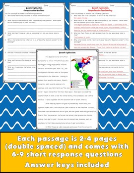 Early Explorers Close Reading Passages {Digital & PDF Included}