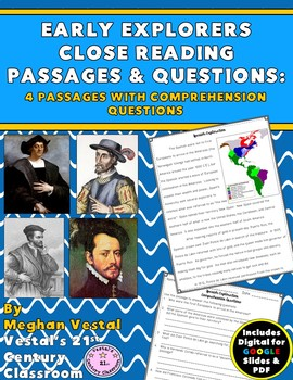Early Explorers Close Reading Passages