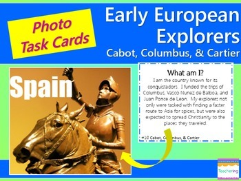 Early Explorers Task Cards {Columbus, Cabot, Cartier} with PHOTOS