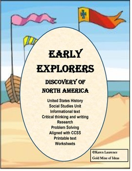 Early Explorers Discovery of North America Social Studies Unit Complete