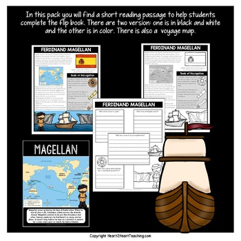 Early Explorers: Ferdinand Magellan Mini-Unit & Flip Book for INB's